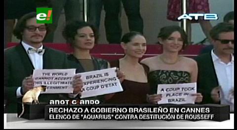 """Cineastas de Brasil cierran filas en Cannes contra el """"golpe"""" de Temer"""