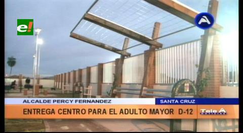 Municipio cruceño entrega centro de la tercera edad
