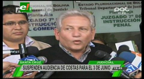 Suspenden audiencia de Rubén Costas y advierte que buscan arraigarlo