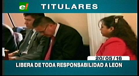 Titulares de TV: Zapata pide que liberen a Eduardo León, no participó en la presentación de su hijo ante la juez
