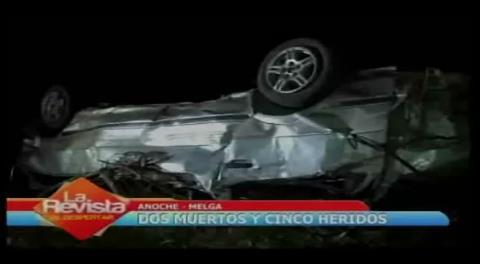 Cochabamba: Fatal accidente deja dos muertos y cinco heridos en Melga