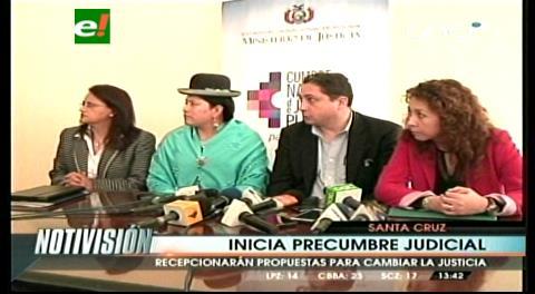 Precumbre de Justicia congrega a diversos sectores sociales de Santa Cruz