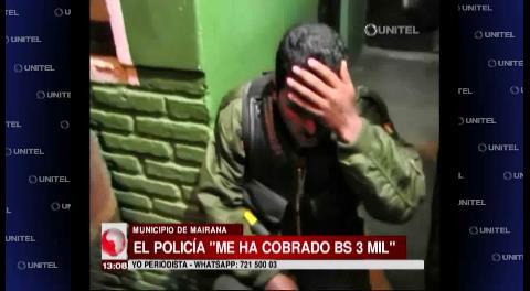 Mairana: Agreden a policías por presuntos cobros irregulares
