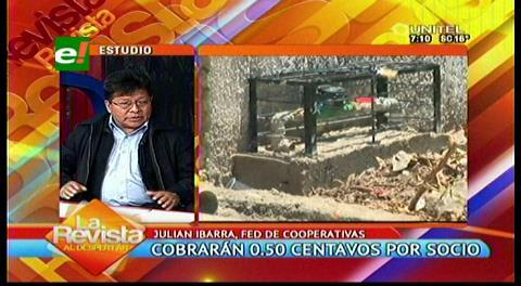Federación de Cooperativas cobrará 0,50 ctvs. por socio