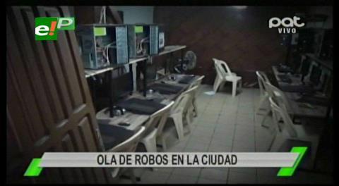 Ola de atracos y robos moviliza a la Policía en la capital cruceña