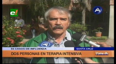 Sedes: Dos pacientes en terapia intensiva por la Influenza en Santa Cruz