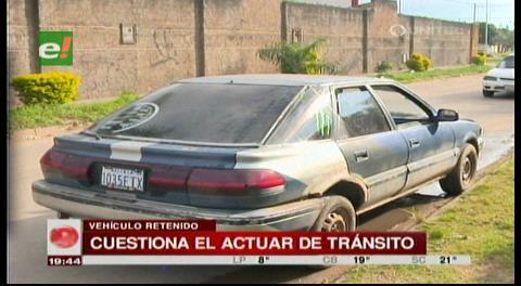 Encuentran vehículo que debió estar retenido en Tránsito por atraco