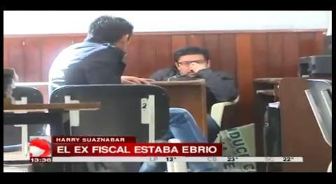 Suspenden licencia de conducir a ex fiscal Suaznabar por chocar en estado de ebriedad