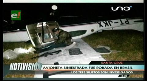 Avioneta siniestrada en San Javier fue robada en Brasil