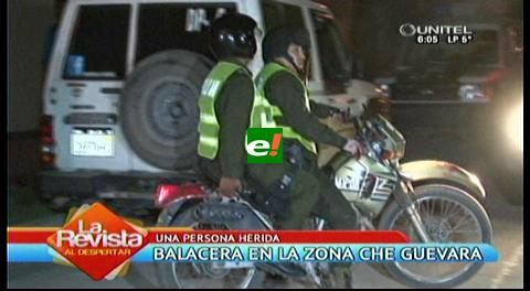 Balacera en la avenida Che Guevara deja un herido