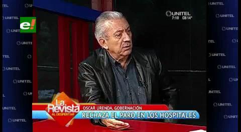 Gobernación cruceña rechaza el paro de hospitales