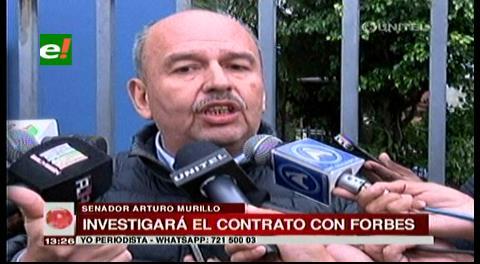 """Senador Murillo: """"No preocupa la inversión sino quien se adjudicó a Forbes"""""""