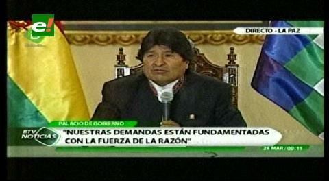 Presidente Morales: intención en Chile de dejar Pacto de Bogotá es confesión de futura derrota