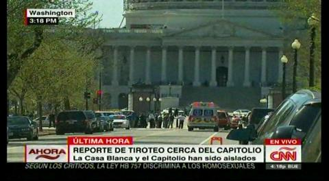 EEUU: Detenido un hombre tras disparar a un policía en el complejo del Capitolio