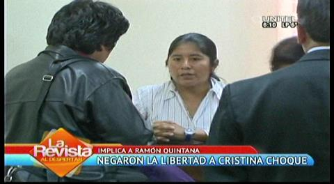 Niegan suspensión de detención preventiva a Cristina Choque