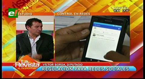 Representante del MAS habla de regulación de redes sociales