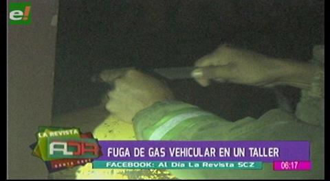 Fuga de gas vehicular en un taller
