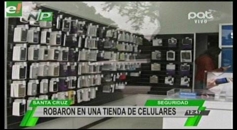 Robo en una tienda de celulares