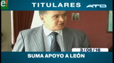 Titulares de TV: Suman las organizaciones que apoyan a Eduardo León