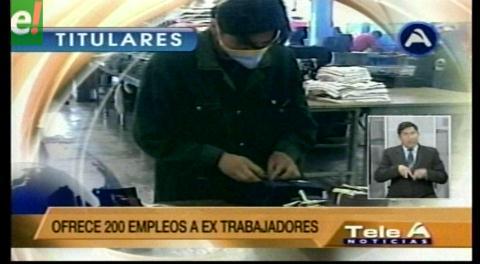 Titulares de TV: Gobierno da su última palabra sobre el cierre de Enatex, no dará un paso atrás