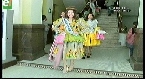 Candidatas a Miss Bolivia Universo disfrutan de la bella ciudad de La Laz