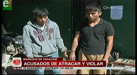 Delincuentes son acusados de robar y violar en Yapacaní