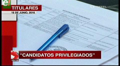 Titulares de TV: Oposición denuncia que 3 postulantes a Contralor son afines al MAS