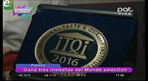 Paceña recibe nuevamente galardones internacionales
