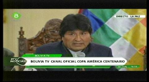 Evo anuncia la transmisión de la Copa América por señal abierta en el canal estatal