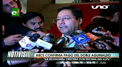 Ministro Arce confirma el segundo aguinaldo