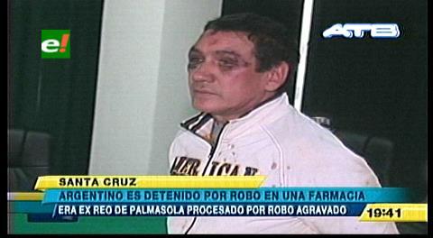Sale de Palmasola hace 18 días y asalta una farmacia