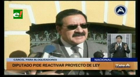 Diputado Gutiérrez pide reactivar proyecto de ley sobre la penalización de los bloqueos