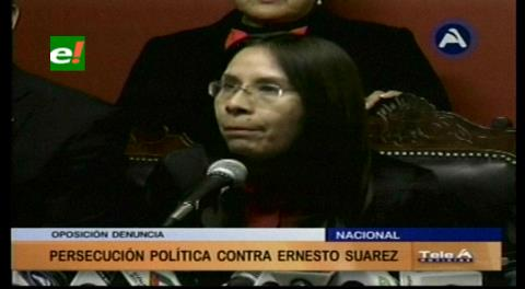 Diputada Millares denuncia persecución política contra Ernesto Suárez