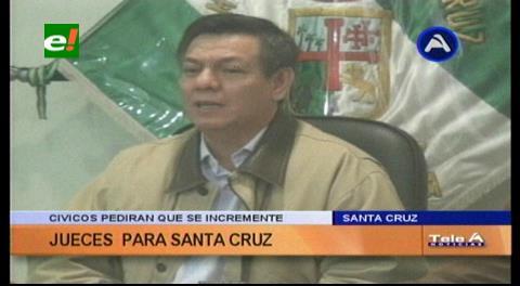 Cumbre judicial: Cívicos pedirán que se incremente el número de jueces en Santa Cruz