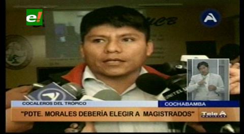 Cocaleros: Evo Morales debe elegir a los magistrados