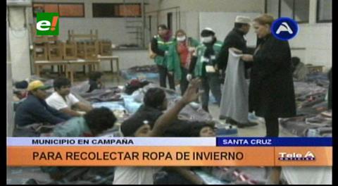 Alcaldía cruceña continúa con la campaña de recolección de abrigos para el albergue municipal