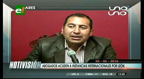 Titulares de TV: Abogados acuden a instancias internacionales por el caso León