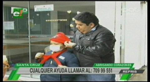 Entregan ropa de invierno a los niños del Oncológico