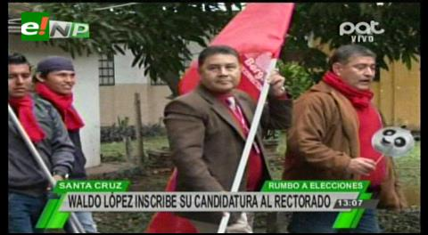 López y Jaldín oficializan sus candidaturas rumbo a las elecciones de la Uagrm