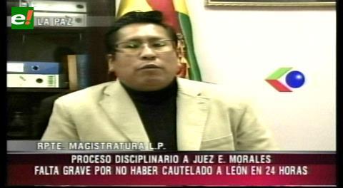 Inician proceso disciplinario contra juez Morales que atendió el caso León