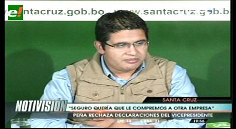 Gobernación cruceña rechaza declaraciones del Vicepresidente sobre la compra de camionetas