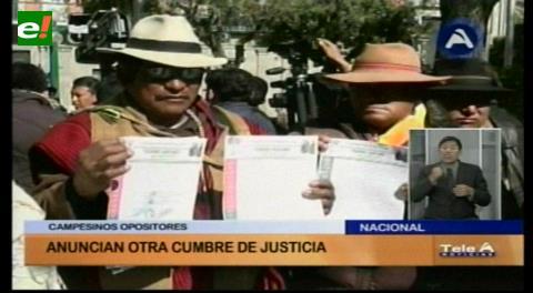 Conamaq y Bartolinas de La Paz anuncian otra Cumbre de Justicia