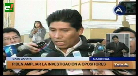 MAS pide incluir a Tuto y Samuel en investigación de caso Zapata