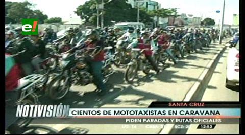Santa Cruz: Mototaxistas exigen permiso para operar