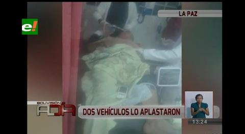 La Paz: Peatón imprudente fue aplastado por camiones