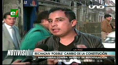 La Paz: Jóvenes rechazan posible cambios en la CPE, marcharán contra la repostulación