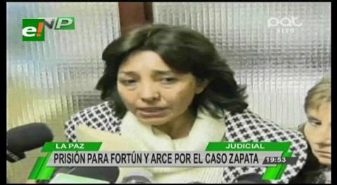 Ximena Fortún anuncia proceso penal contra Gabriela Zapata