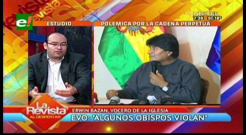"Vocero de la Iglesia Católica califica de ""chambonada"" las declaraciones de Evo"
