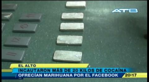 Incautan 20 kilos de droga en El Alto