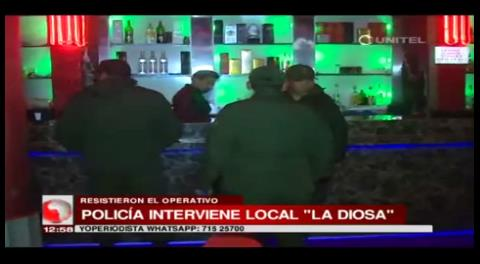 Intervienen local nocturno en La Paz por Trata y explotación sexual